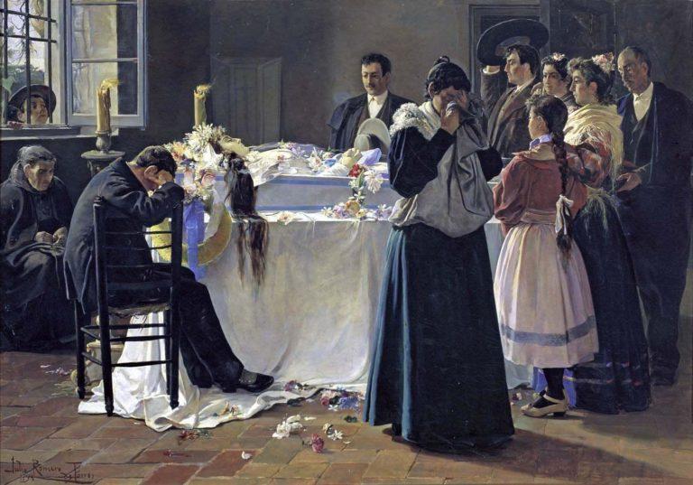 """Mira qué bonita era"", de Julio Romero de Torres - Museo Reina Sofía, dominio publico, https://commons.wikimedia.org/w/index.php?curid=14710224"